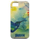 ¡Grande ideal! Pintura de la acuarela del colibrí iPhone 5 Case-Mate Carcasas