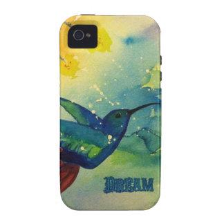 ¡Grande ideal Pintura de la acuarela del colibrí Vibe iPhone 4 Funda