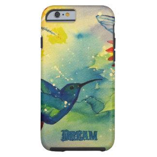 ¡Grande ideal! Pintura de la acuarela del colibrí Funda Resistente iPhone 6