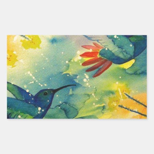 ¡Grande ideal! Pintura de la acuarela del colibrí Rectangular Altavoz