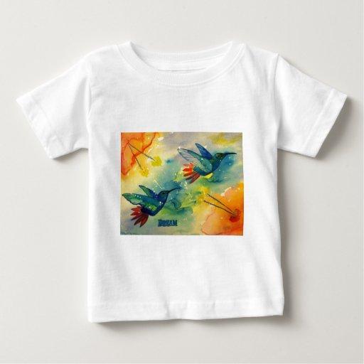 ¡Grande ideal! Pintura de la acuarela del colibrí T Shirts