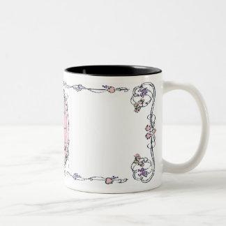 Grande Jete en taza oval florecida