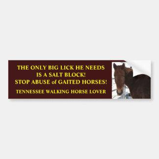 Grande lama - los caballos que caminan de Tennesse Pegatina Para Auto