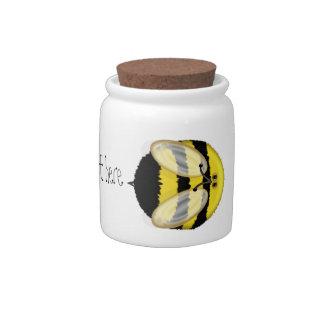 Grande manosee el pequeño tarro personalizado abej jarra para caramelo