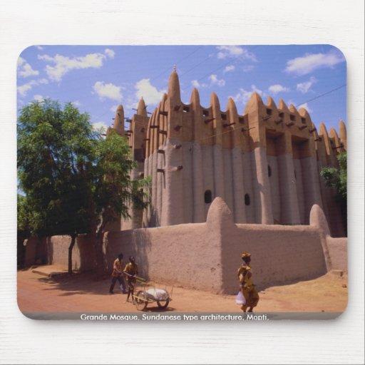 Grande mezquita, tipo arquitectura, Mopti del Sund Tapetes De Ratones