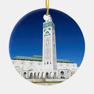 Grande Mosquée Hassan II, Casablanca, Marruecos Adorno Navideño Redondo De Cerámica