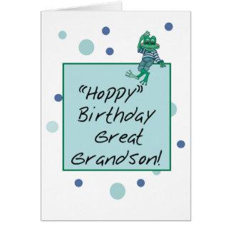 Grande - rana en vaqueros, cumpleaños, lunares del tarjeta de felicitación
