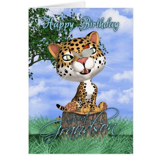 Grande - tarjeta de cumpleaños del nieto con Jagua