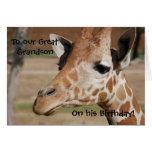 Grande - tarjeta de cumpleaños del nieto con la ji