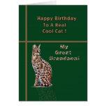 Grande - tarjeta del cumpleaños del nieto con el O