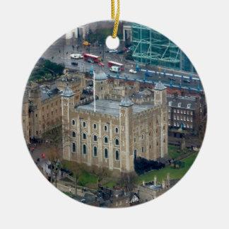 ¡Grande Torre de Londres Inglaterra Ornaments Para Arbol De Navidad