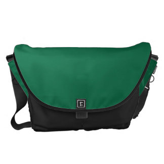 Grande verde oscuro bolsa de mensajeria