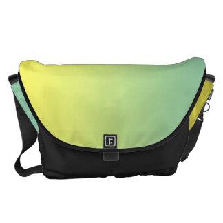 Grande verde y amarillo bolsa messenger