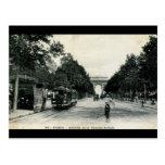 Grande vintage 1908 de Armée París Francia Tarjetas Postales