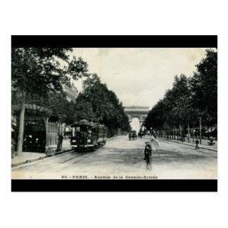 Grande vintage 1908 de Armée París Francia Postal