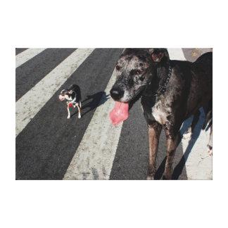 Grande y alto, foto de great dane y perros de la c lienzo envuelto para galerias
