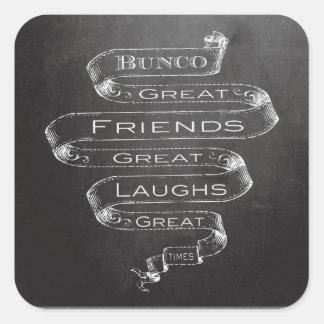 Grandes amigos de Bunco Pegatina Cuadrada