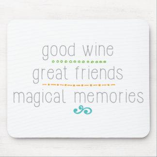 grandes amigos del buen vino, memorias mágicas mouse pads