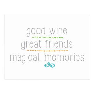 grandes amigos del buen vino, memorias mágicas postal