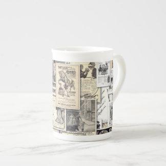 Grandes anuncios #1, taza del vintage de la taza de porcelana