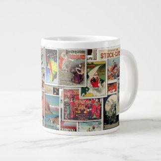 Grandes anuncios del vintage - viaje y taza del taza grande
