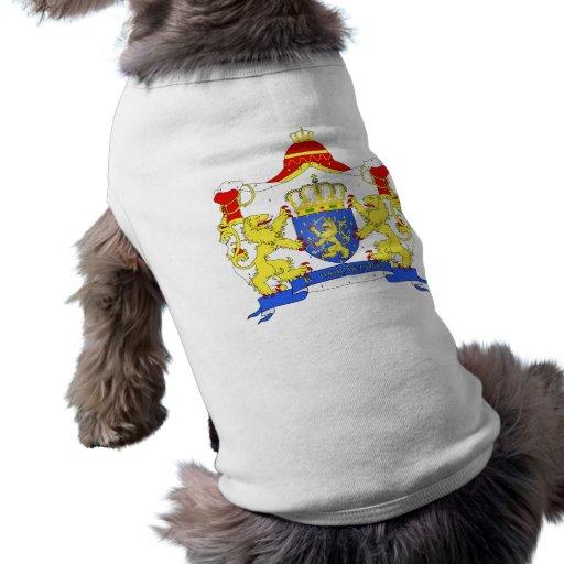 Grandes armes Pays Bas, Netherlands Dog Tee Shirt