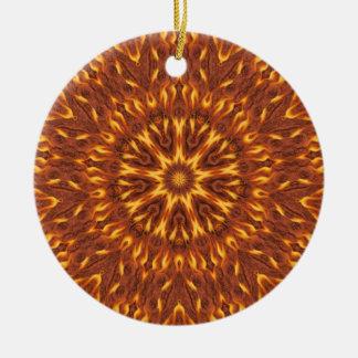 Grandes bolas de fuego adorno navideño redondo de cerámica