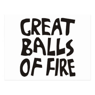 Grandes bolas de fuego tarjetas postales
