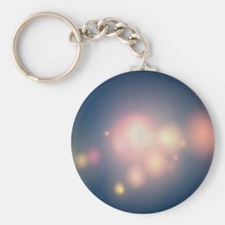 Grandes bolas de los cristales abstractos de la lu llavero redondo tipo pin
