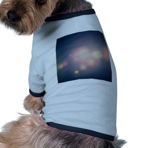 Grandes bolas de los cristales abstractos de la lu camiseta de mascota