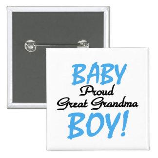 Grandes camisetas y regalos orgullosos del bebé de pin cuadrado