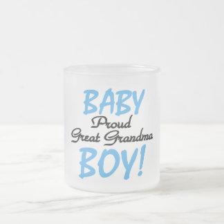 Grandes camisetas y regalos orgullosos del bebé de taza de café esmerilada
