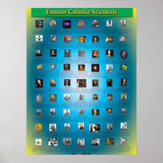 Grandes científicos católicos póster