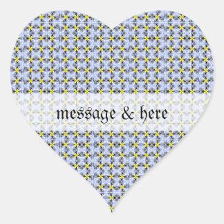 Grandes daneses amarillos azules pegatina corazon personalizadas
