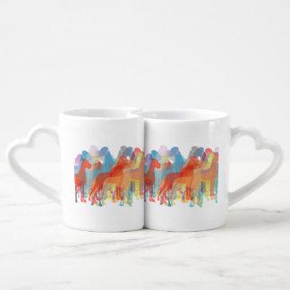 Grandes daneses de lujo set de tazas de café