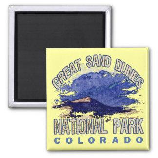 Grandes dunas de arena parque nacional, Colorado Imán Cuadrado