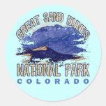 Grandes dunas de arena parque nacional, Colorado Pegatina