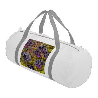 grandes flores en la púrpura (i) bolsa de deporte