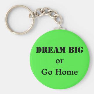 Grandes ideales o van a casa llavero redondo tipo pin