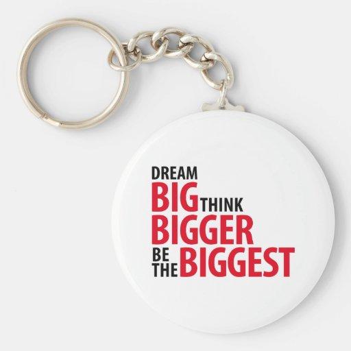 Grandes ideales, piensan más grande, sean los bigg llaveros