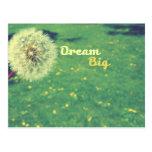 Grandes ideales y hacen un deseo tarjetas postales