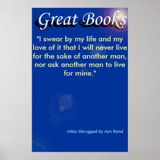 """grandes libros, """"juro por mi vida y mi l… póster"""