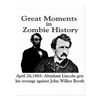 Grandes momentos en historia del zombi tarjetas postales