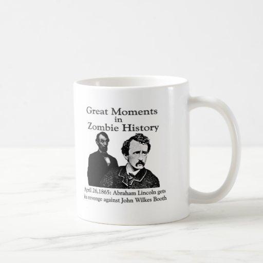 Grandes momentos en historia del zombi tazas de café