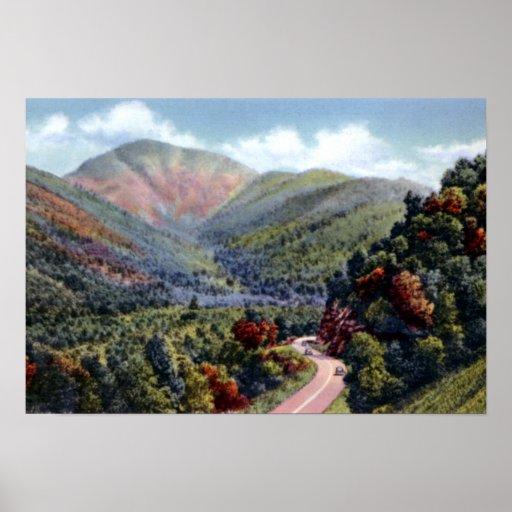 Grandes montañas Bullhead Mount Le Conte de Smokey Impresiones