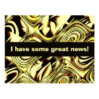 ¡Grandes noticias! Tarjetas Postales