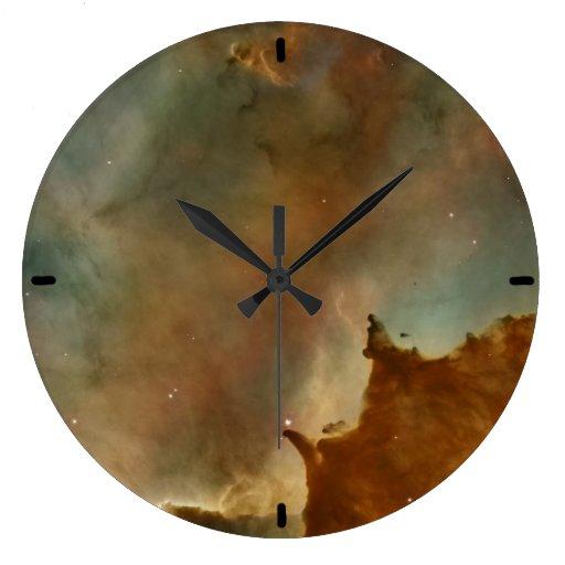 Grandes nubes de la nebulosa de Corina Reloj Redondo Grande