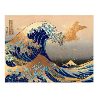 Grandes ondas en Kanagawa Postales