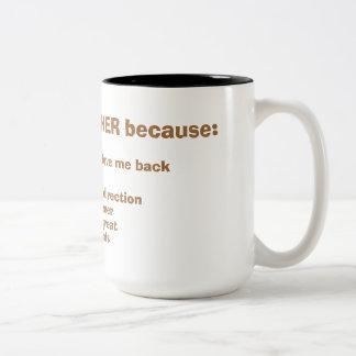 Grandes PAPÁ de la taza de café del día de padre