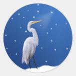 Grandes pegatinas del día de fiesta del Egret